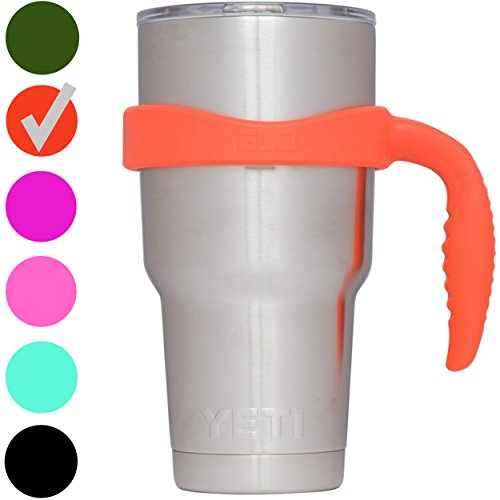 Grab Life Outdoors (GLO) - Handle For YETI Rambler 30 Oz Tumbler Cup - Fits Ozark Trail, RTIC & more - Handle Only (Field Orange)