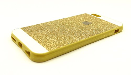 iPhone 6 Case , Luxury Hybrid TPU Hard Shiny Bling Glitter Sparkle With Crystal Rhinestone Cover Case For iPhone 6 [4.7 Inch] Gold