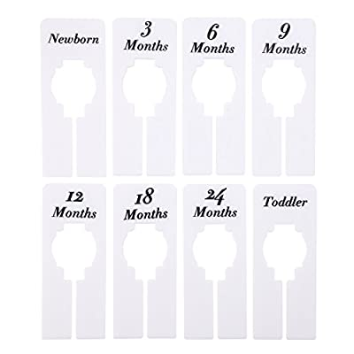 Caydo 8 Pieces Clothing Size Dividers Rectangular Hangers Closet Dividers by Caydo that we recomend individually.