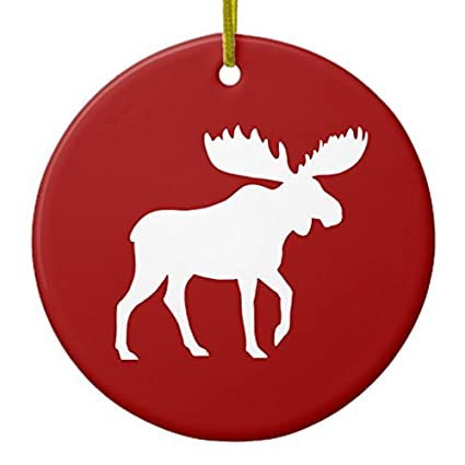 christmas gifts holiday moose ornament circle round xmas decor ornament yard decorations