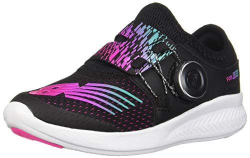 New Balance Girls' BKO V1 Running Shoe, Rainbow/Black, 7 M M US Big Kid