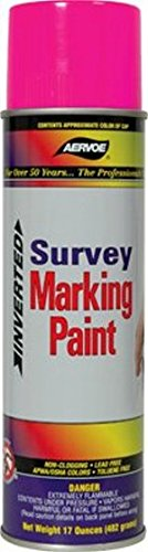 Marking Paint Aervoe (Aervoe 229 Fluorescent Pink Survey Marking Paint - 20-oz Cans (17-oz net weight) - 12 Can Case)