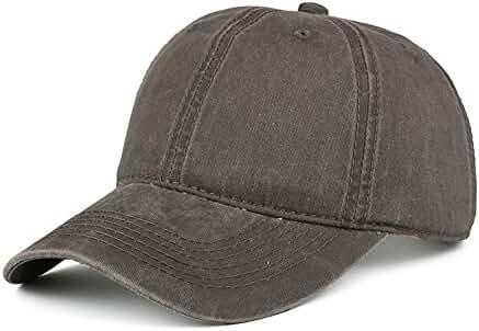 KVMV Vintage Washed Dyed Cotton Twill Low Profile Adjustable Baseball Cap