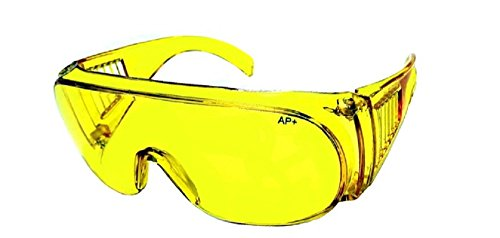 Night Driving Fit Over Prescription Rx No Blind Spot Yellow Lens Wrap - Shades Over Glasses