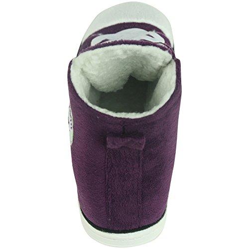 Gohom Mens Warm Winter Indoor/Outdoor Christmas High-Top Sneaker Slippers Purple dUTcap5CQ