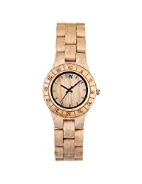 Wewood Women's Moon MOON-BEIGE Beige Wood Analog Quartz Watch with Beige Dial