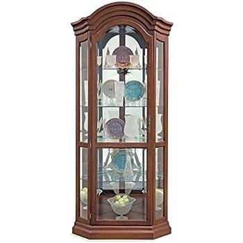 Amazon Com Lighthouse Serpentine Corner Curio Cabinet