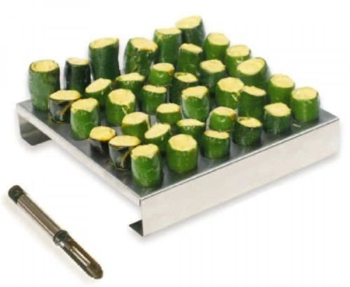 Generic NV_1008002800_YC-US2 , New36- Rack with lapen Stainless-Steel k wit Corer, er, 3 36-Hole Jalapeno New 36JR, New Stainle by Generic