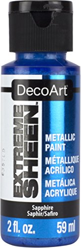 DecoArt 2 Ounce, Sapphire Extreme Sheen Paint, 2 - Paint Blue Metallic