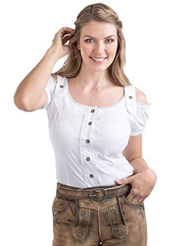 Couture Blusa Blanco Mujer Para Schöneberger Trachten fqgPWB