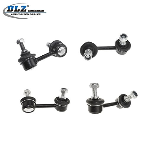 DLZ 4 Pcs Suspension Kit-2 Front 2 Rear Sway Bar Stabilizer Bar Link Compatible with 2006 2007 2008 2009 2010 2011 Honda Civic Acura CSX K750125 K750126 K80769 K80768