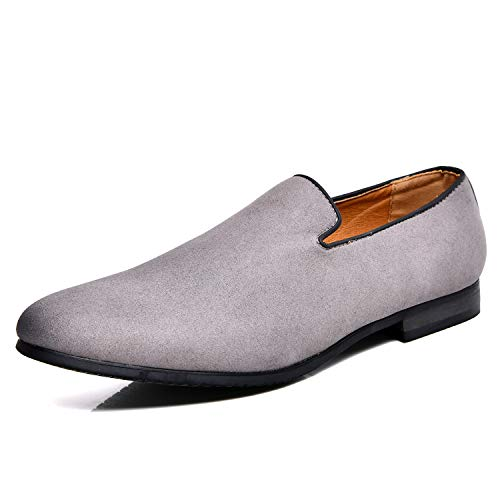 (Men's Slip-on Loafers Dress Shoes PU Leather Noble Comfortable Pure Color Fashion Driving Boat Moccasins)