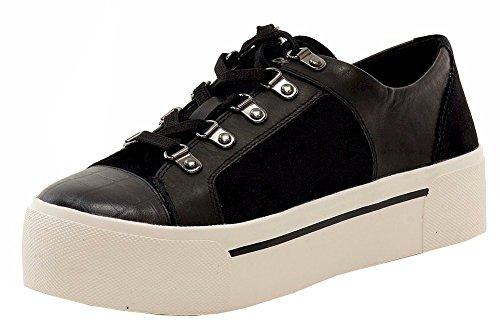 DKNY Women's Briana Platform Sneakers, Black, 6.5 B(M) US