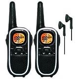 8Km Binatone Terrain 750 Walkie Talkie Two Way Radio Twin Pack + 2 x Comtech CT-10VX Headsets