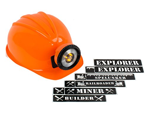 (Light-up Hard Hat Including Miner, Railroader, Builder and Spelunker Helmet Labels)
