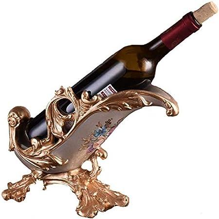 KUMOPYU Estante De Vino De Encimera Estante De Vino De Metal Estante De Vino Creativo Europeo Decoración del Hogar Whisky Botella De Cerveza Resina Estante De Vino Artesanal-Estante De Vinotecas