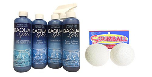(Baqua Spa 3-4 Month Maintenance Kit and Scumballs)