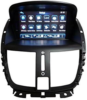 LIKECAR 17.78 cm AUTO estéreo del coche GPS DVD para PEUGEOT 207 con navegación control del