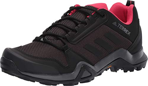 (adidas outdoor Terrex Ax3 Womens Hiking Boot Carbon/Black/Active Pink, Size 8)