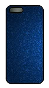 iPhone 5 5S Case Blue Pattern PC Custom iPhone 5 5S Case Cover Black