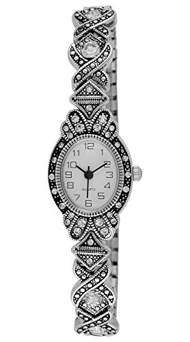 Moulin Women's Art Deco Expansion Band Silver Watch #17617.69445 ()