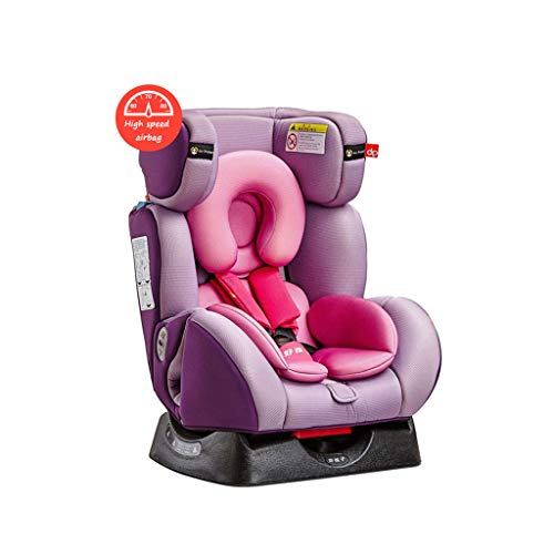Car Seat Reclining Booster (Car Seats High-Speed airbag Safety seat car Child Safety seat Baby can sit Reclining Safety seat 0-7 Year Old Baby Safety Chair car Baby seat Belt (Color : Pink, Size : 53.549.570.5cm))