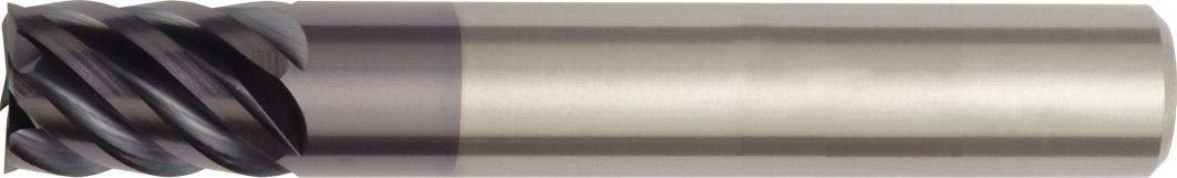 WIDIA Hanita TR4S1710004 4S17 HP Finishing End Mill 0.375 Shank Dia 6-Flute 0.375 Cutting Dia TiAlN Coating RH Cut Carbide