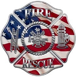 Firefighter Fire Rescue Firefighter Decal American Flag 4