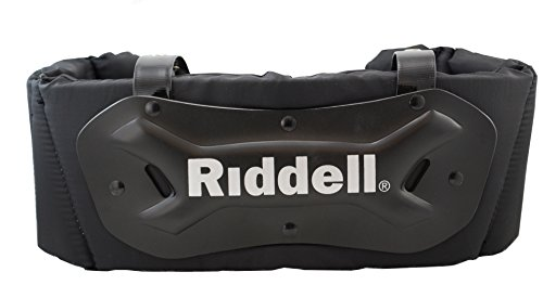 (Riddell Sports Youth Rib Protector Black/Silver, Large)