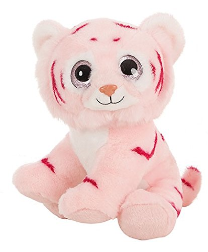 Amazon.com: BARRADO Plush toys - Light Pink Tiger and light pink Lion with eyes bright 11,80