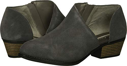 Skechers Women's Lasso-VACINITY-Short Asymmetrical Bootie Ankle Boot Charcoal 9 M US