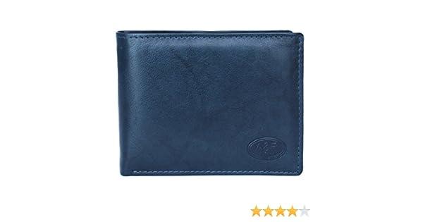 Cartera billetera de hombre en piel con monedero marca Anna & Robert Antique (azul): Amazon.es: Zapatos y complementos