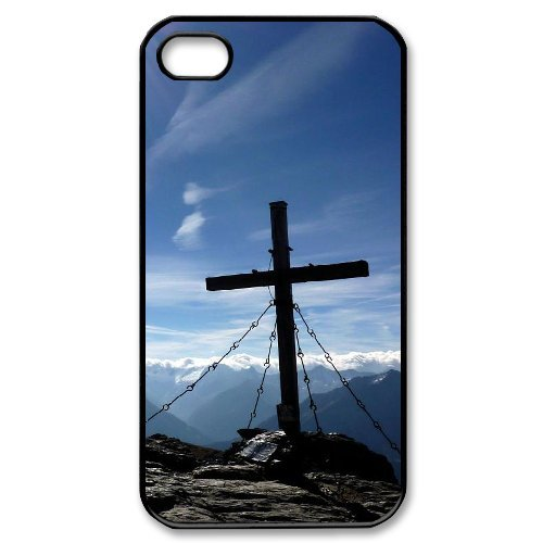 Alice iPhone 4,4s Case,Personalized Custom Christian Cross,Unique Design Protective TPU Hard Phone Case Cover