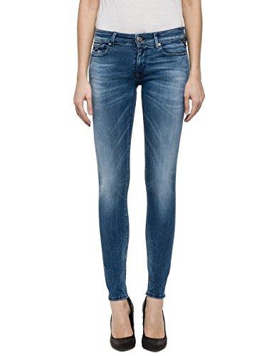 (Replay Women's Hyperflex Skinny Jeans Blue in Size 24W 30L)