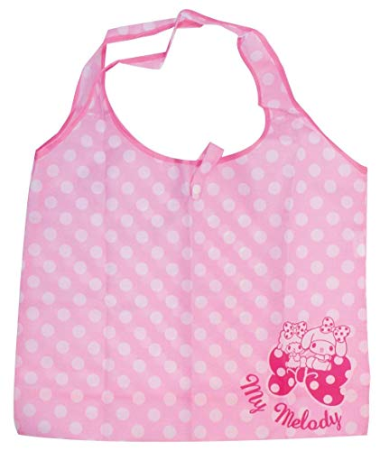 - J's Planning Reusable Grocery Shopping Bag Foldable Shopper Bag 42x34cm Japan Characters Series - Sanrio My Melody Pink FAE063