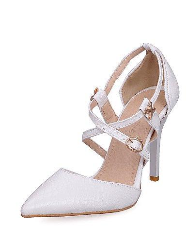 Vestido Tira Stiletto en Sandalias Materiales mujer LFNLYX Puntiagudos y Casual de Tacones White Tobillo Zapatos Noche Tacón el Fiesta Aw1qn1g7H