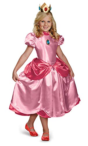 Nintendo Super Mario Brothers Princess Peach Deluxe Girls Costume, Small/4-6x -