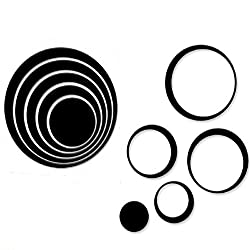 Wall Sticker, Leegor 1 Set Indoors Decoration Circles Creative Stereo Removable 3D DIY Wall Stickers (Black)