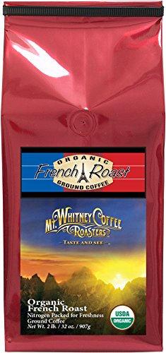 Mt. Whitney Coffee Roasters Organic French Dark Roast Coffee, Ground, 2 Pound