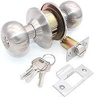 pomos de puerta interior Juego de 2 cerraduras de puerta de acero inoxidable cerradura de privacidad puerta de lavander/ía cuarto de ba/ño NUZAMAS dormitorio cerradura sin llave cocina