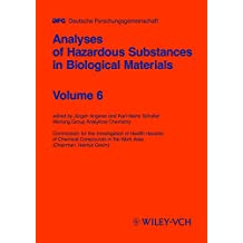 Analysis of Hazardous Substances in Biological  Materials: Volume 6