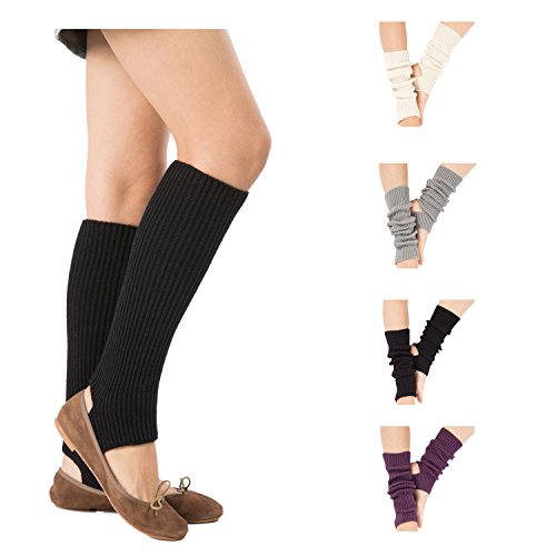 Leg Acrylic Warmers (Bestjybt Womens Short Boots Socks Crochet Knitted Boot Cuffs Leg Warmers Socks (4 Pairs-Style H))
