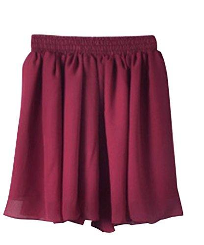 VinRouge Minijupe Unique Court lgante Jupe Femme Jupe YouPue Rtro Short Taille Plisse Hippie wSqTtF7