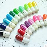WEIMAY Love Pills Capsule Mini Message Bottles Letters Capsule Wishing Bottles for Love Friendship