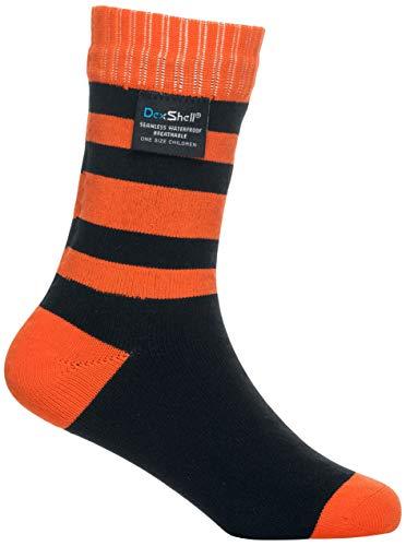 (DexShell Waterproof Childrens Socks Black & Red - Medium)