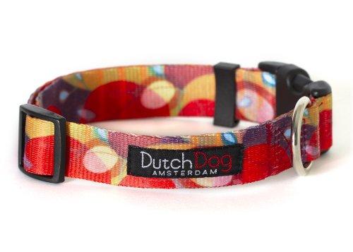 Dutch Dog Amsterdam Fashion Dog Collar, 15 to 20-Inch, Ruby Harvest, My Pet Supplies