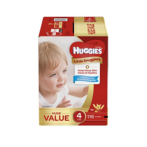 Huggies Little Snugglers Baby Diapers, Size 4, 116 Count, HUGE PACK (Packaging may Vary)
