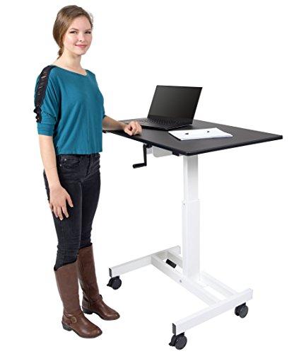 Single Column Crank Adjustable Stand Up Desk (40