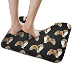 NiYoung Non Slip Contour Bath Mats for Toilet/Absorbent Water/Dry Fast/Machine-Washable/Perfect for Bathroom,Tub and Shower(15.8x19.3 Inches,Rough Collie Dog) 5