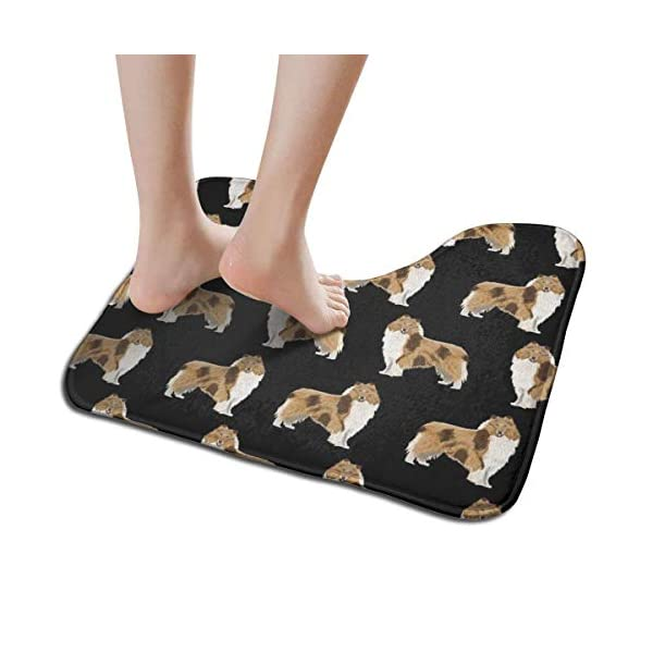 NiYoung Non Slip Contour Bath Mats for Toilet/Absorbent Water/Dry Fast/Machine-Washable/Perfect for Bathroom,Tub and Shower(15.8x19.3 Inches,Rough Collie Dog) 2